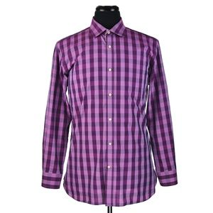 Ted Baker Endurance Dress Shirt 16 X 32/33 Purple